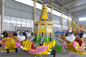 kiddie rotary bee rides with self control system in Turkey
