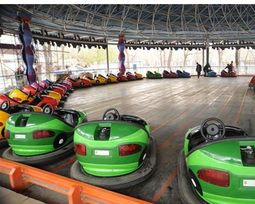 amusement park ground grid electric bumper cars