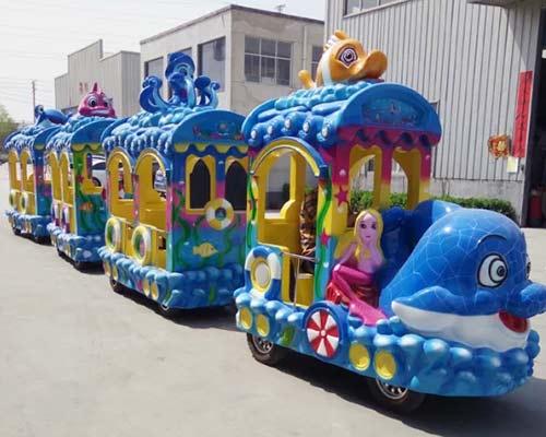amusement park ocean theme trackless train for sale