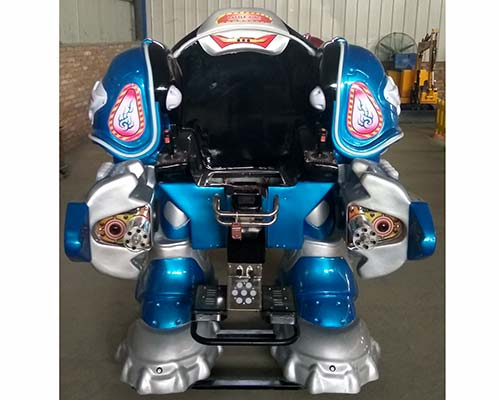 hot sale kiddie robot ride with blue color
