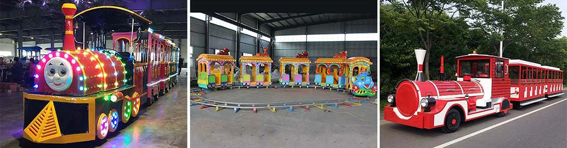theme park ride on trains for sale