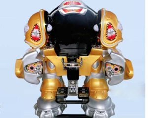 walking robot ride with golden color
