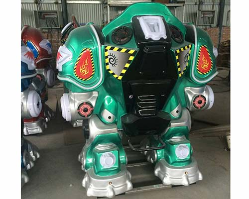 green kiddie robot ride for sale
