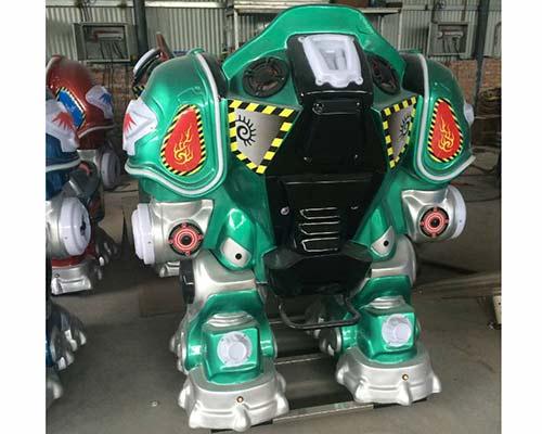 green kiddie robot ride for sale