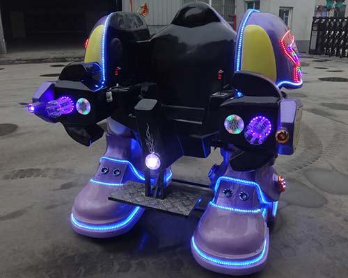 purple kiddie robot ride for sale
