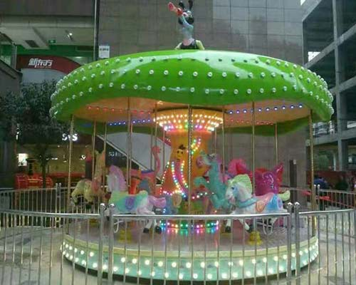 merry go round ride with colorful lighting for sale