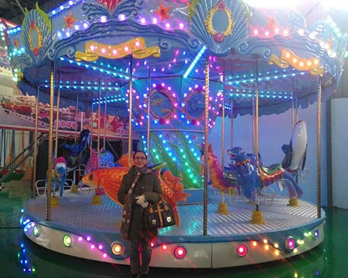 hot sale carousel ride in ocean theme