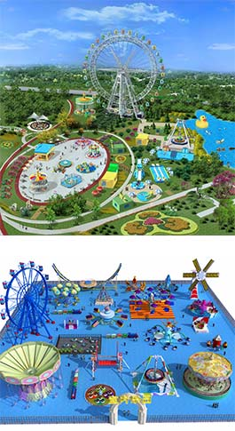 amusement park design sample