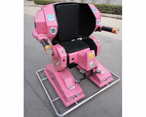 kiddie robot ride with pink color