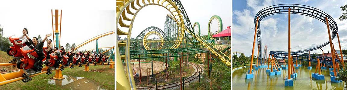 roller coaster ride for theme parks