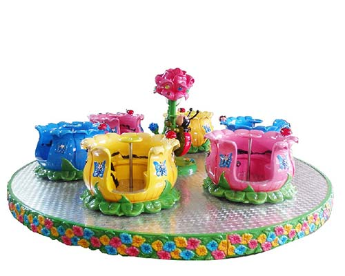 popular flower cup rotating ride for sale