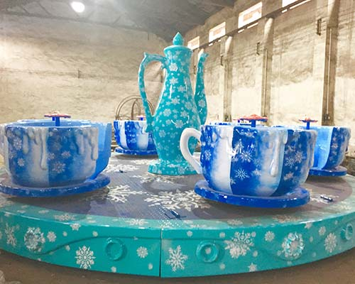 snow theme spinning teacup ride for sale