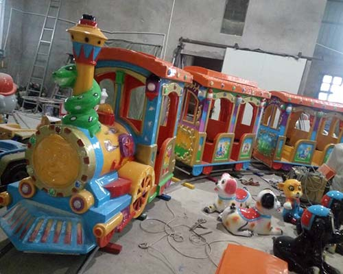 funfair ride on train with track for sale