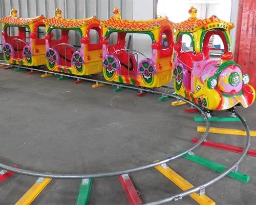 small amusement track train rides for kids