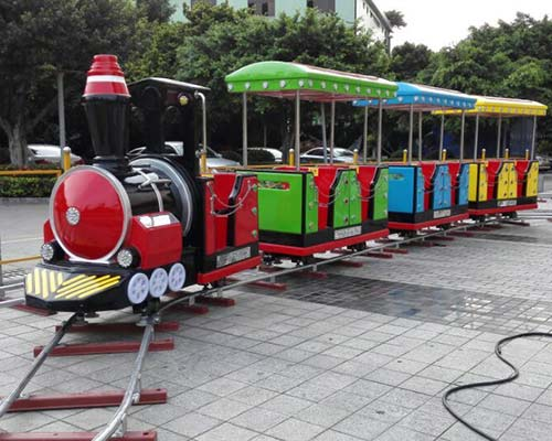 theme park ride on train with track for sale