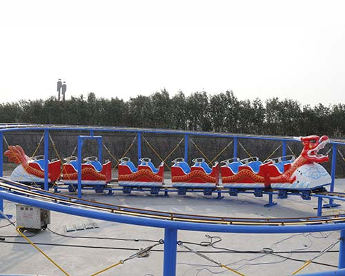 new model sliding dragon amusement roller coaster for sale