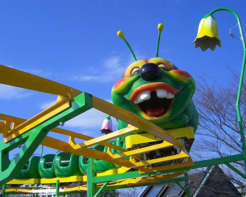 amusement park sliding worm roller coaster for sale